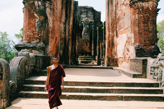 Monk in Polonnaruwa